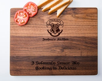 Customized Harry Potter Cutting Board Personalized Cutting Board Marauder's Map Up to No Good Custom Wedding Gift Bridal Shower Gift