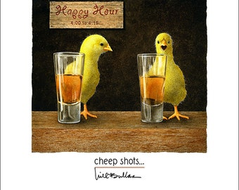 Will Bullas / art print / cheep shots... / humor / animals