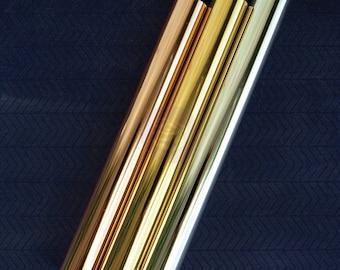 Prima - Rub-On - Foil Sheets - INTERGALACTIC - Six Sheets - 3 Colors - Metallic - Special Sale!