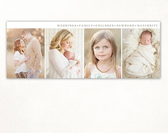 Facebook timeline cover template photo collage photos digital PSD FC068