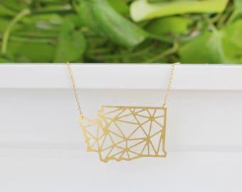 Washington Geometric Necklace | Large | ATL-N-167