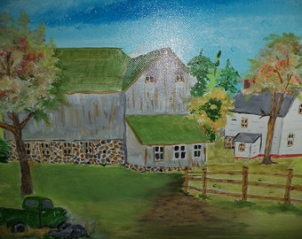 The Farmstead Painting