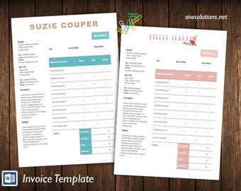 Invoice Template Etsy - Free invoice templates printable online bead stores
