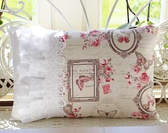 Cushion cover shabby style