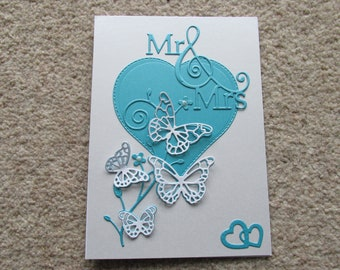 Greetings Card *Made in UK* Blank Occasions Anniversary *Hand Crafted* Wedding Butterflies
