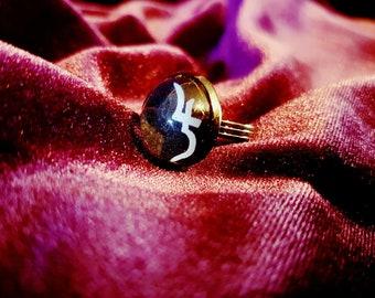 Jusa Sigil Ring - Sopor Aeternus symbol dome ring goth gothic Anna Varney Cantodea