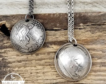 Coin Necklace - State Necklace - Domed Coin - State Quarter - State Jewelry - Going Away Gift - US Coin Necklace - State Pendant - Necklace