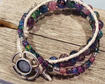 Boho Bracelet Wrap Bracelet Beaded Wrap Bracelet Leather Bracelet Bohemian Bracelet Jewelry Womens Boho Leather Wrap Bracelet Beach Jewelry