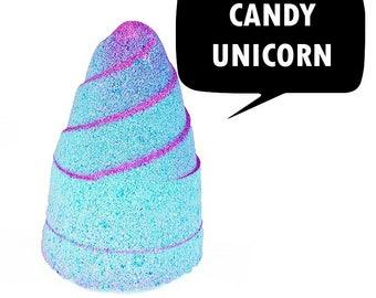 Candy Unicorn Foaming Glit Bath Bomb Horn