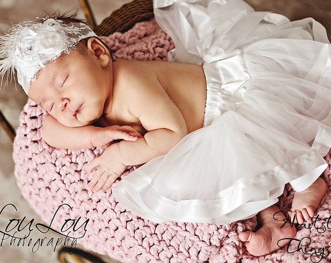 Chiffon Pixie Pettiskirt lined with Satin Ribbon adapted from Petti Skirt for Newborn or Child