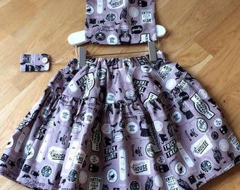 Trick or treat halloween skirt and bag