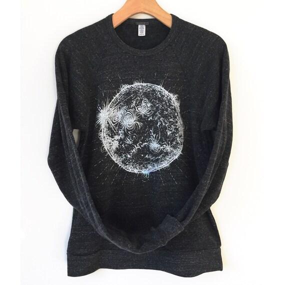 Sun Shirt, Space Shirts, Science tshirt, mens astronomy shirt, unisex adult clothing, Solar graphic tee, monochrome t-shirt science shirts