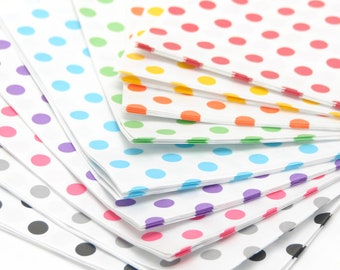 Polka Dot Paper Bags Party Accessory for Wedding Favours, Children's Party Bags and Gifts