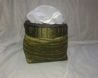 BASKET DECO green and Brown satin costume