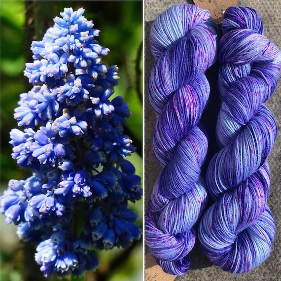 Hyacinth, speckled indie dyed merino nylon sock yarn