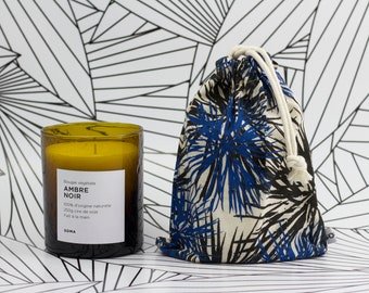 Candle amber Black 100% natural