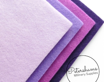 Pack of 8 Sheets A4 Acrylic Felt for Crafting - Assorted Purple
