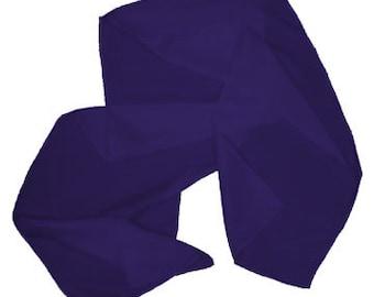 "Royal Purple 100% Habotai Silk Scarf - 8""x 54"" - Dyed"