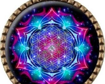 "Bronze pendant - ""universe"" - (130) Cabochon"