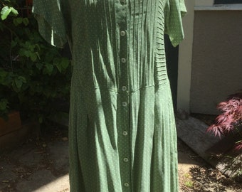 Vintage April Cornell rayon midi dress
