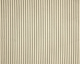 Cottage Grey cotton fabric by the yard stripe Magnolia Home Fashions