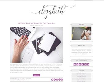 Elizabeth - Responsive Blogger Theme - Premade Blogger Theme