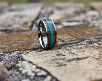 FREE Shipping, Wood Ring, Mens Wood Ring, Wood Wedding Band, Koa Wood Ring, Mens Wedding Band, Wooden Ring, Mens Wooden Ring, Wedding Band