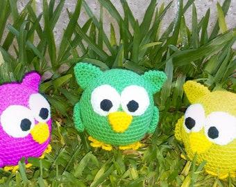 Crochet pattern for owl pdf english- español by ternura amigurumi
