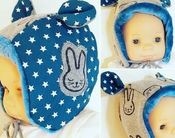 """""""Rabbit"""" baby bonnet Hat"""