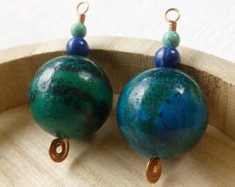 Necklace Pendant - Turquoise Pendant - Ball Pendant - DIY Necklace - Stone Pendant - Gemstone Pendant - Handmade Pendant