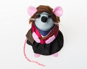 Amy Farrah Fowler The Big Bang Theory Mouse ornament Artisan felt cute mouse Mayim Bialik mice rat gift for nerd geek Big Bang Theory fans