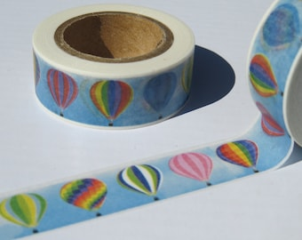 Hot Air Balloons Washi Tape, Colourful Masking Tape