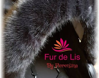 NEW LUSH Fur de Lis Lapelle™, Luxury Faux Fur Pram Hood Trim For Bugaboo, Icandy, Stokke, Silver Cross and More. Charcoal. Includes UK P&P.