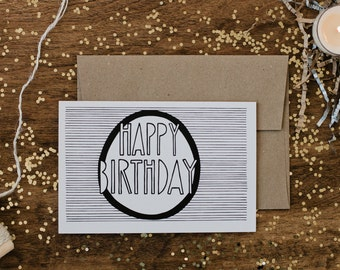 "Birthday 4""x6"" Greeting Card - Happy Birthday"