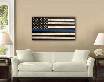 Thin Blue Line Flag - American Flag