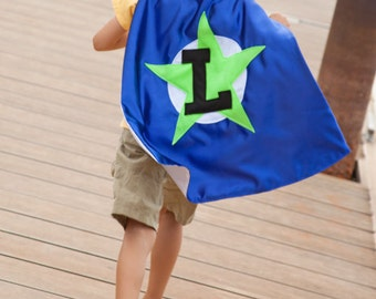 Custom Superhero Cape . Super Hero Capes for Kids . Boys Halloween Costume . Little Brother Cape . Quick Ship - Free Mask