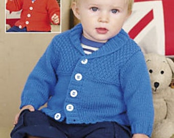 Sweater Knitting Pattern Leaflet Sirdar 1897 Snuggly DK, 0-7 years