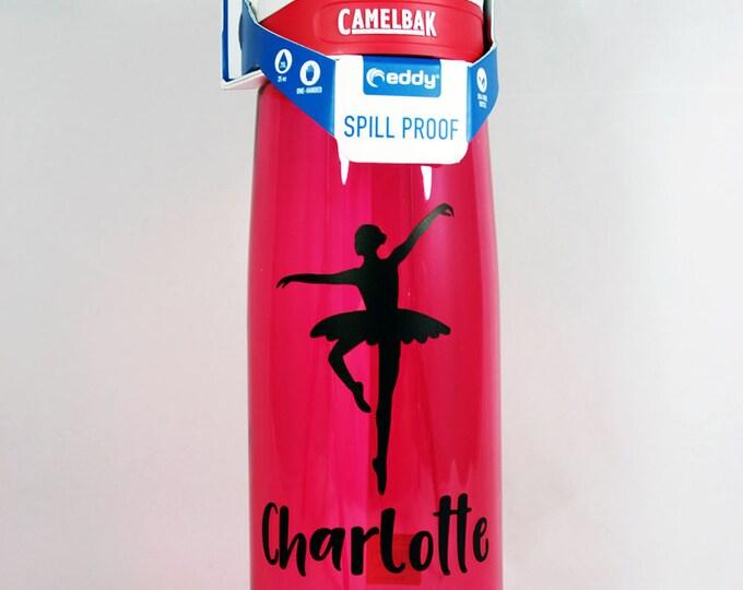 Personalized .75L CamelBak® Eddy Bottle - Ballerina - Dancer - Dancing - Customized - Name - Ballet