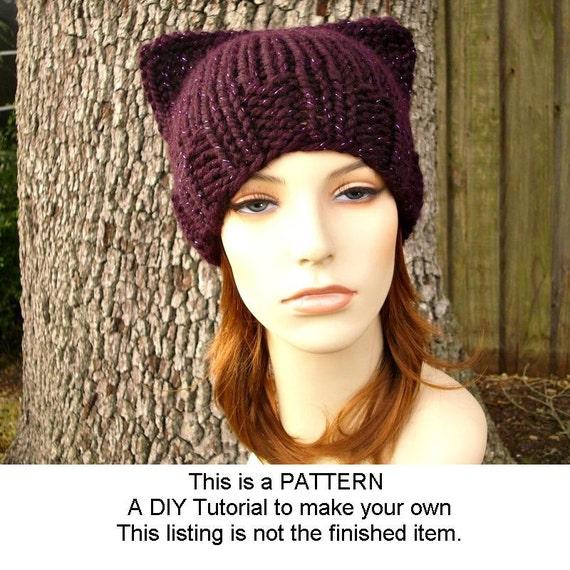 Instant Download Knitting Pattern - Knit Hat Knitting Pattern - Knit ...