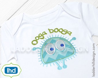 Ooga Booga Monster Two Applique Embroidery Design OB4A002