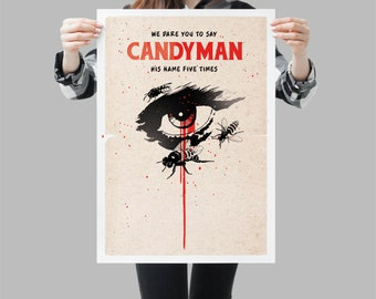 Candyman poster movie. Horror cult film. Available in different sizes. Check the drop-down menu for your choice