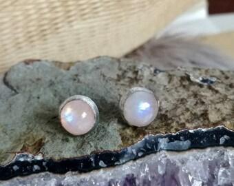 Moonstone Earrings, Silver Earrings, Sterling Silver, Gift for her, inspirational women gift