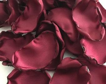 Maroon flower petals, Wine rose petals, Burgundy table decor, flower girl petals, wedding, baby shower decor, bridal shower decor