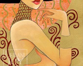 """Klimt's Emilie by Leilani Joy 8""""x16"""" Fine Art Print"""