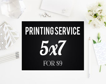 Professional Printing Service for 5x7 Prints