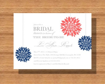 Bridal Shower Invitation, Pom Pom Bridal Shower Invitation, Printable Shower Invitation for Your Wedding Shower or Any Special Event