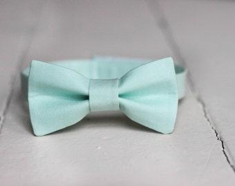 Boys Mint Bow Tie -  Toddler Mint Bow Tie, Mint Baby Bow Tie, Little Boys Easter Bow Tie, Mint Toddler Bow Tie,  Mint Toddler Boys Bow Tie