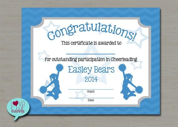 Cheerleading cheer award certificate dance gymnastics award like this item yadclub Image collections