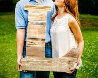 Handmade Reclaimed Rustic Pallet Wood Letter