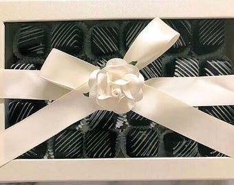 SUGAR FREE Petits-Fours in Gift Box | Chocolate, Vanilla or Assorted | Elegant Birthday, Wedding or Anniversary Gift!